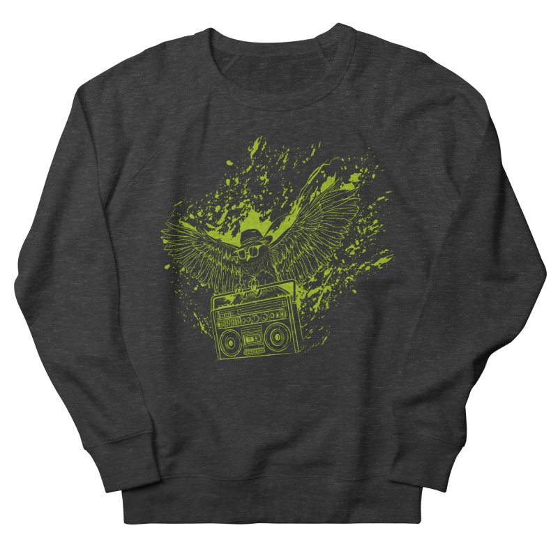 Nightflight Men's French Terry Sweatshirt by Supervoid Artist Shop