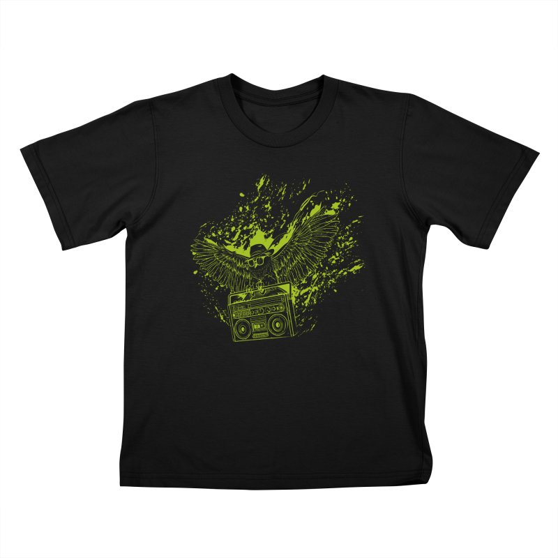 Nightflight Kids T-Shirt by Supervoid Artist Shop