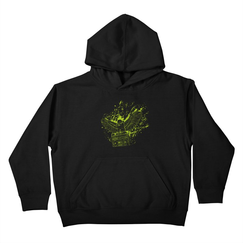 Nightflight Kids Pullover Hoody by Supervoid Artist Shop