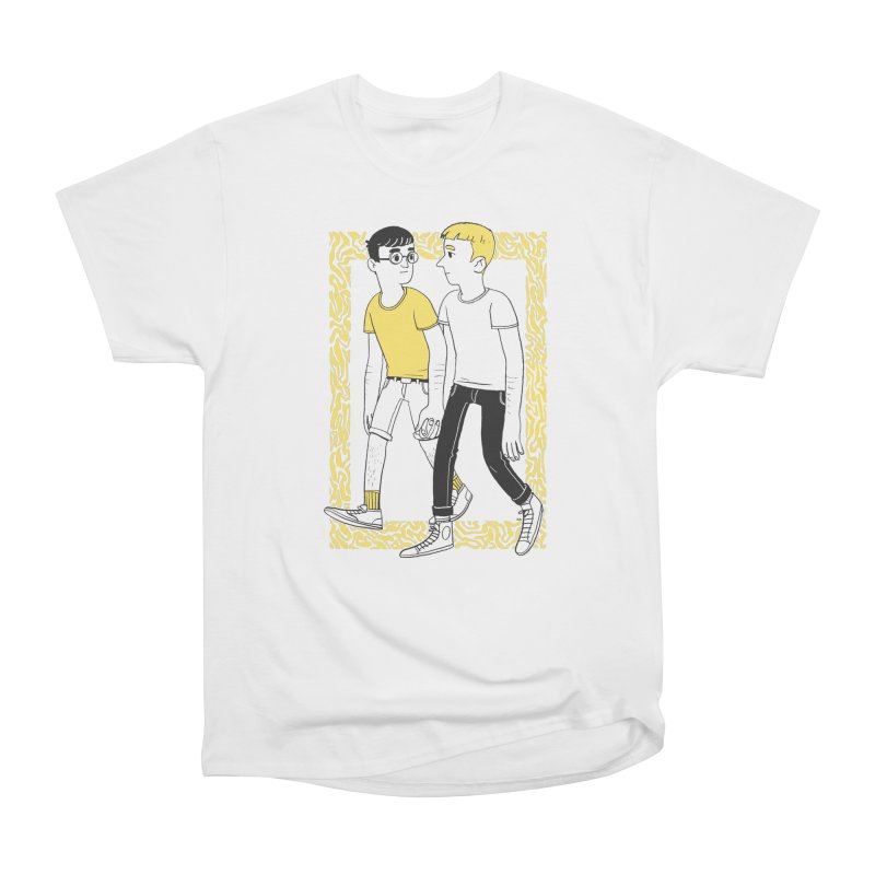 Lover Boys in Men's Heavyweight T-Shirt White by Hertz Alegrio