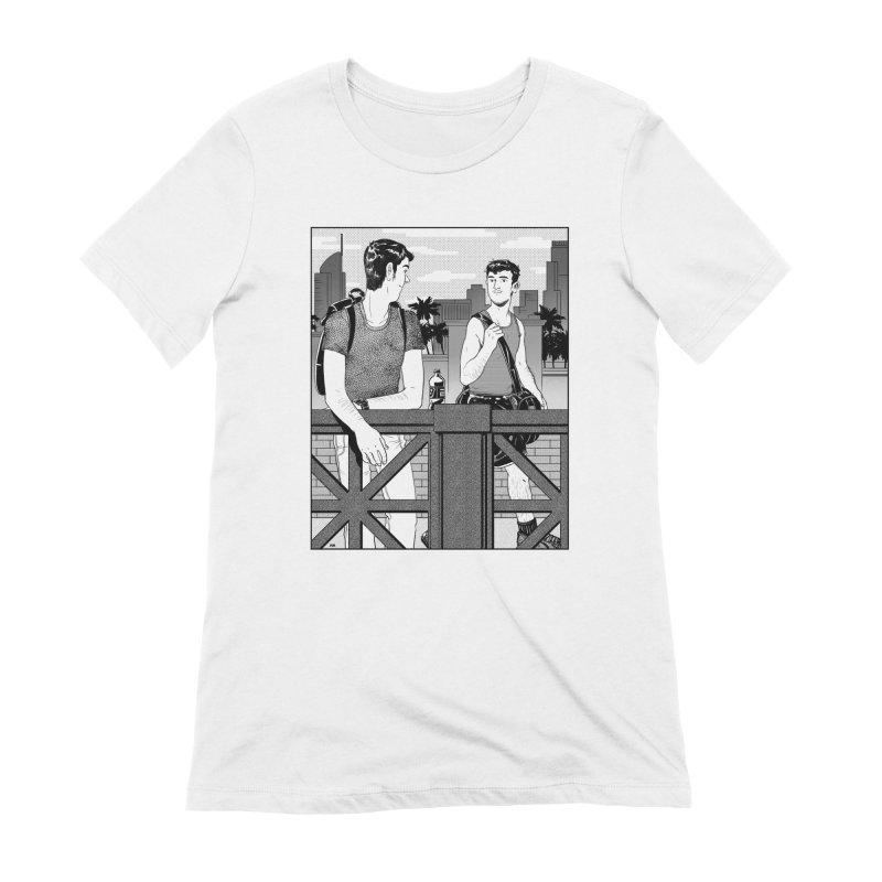 A Glance Downtown Women's Extra Soft T-Shirt by Hertz Alegrio