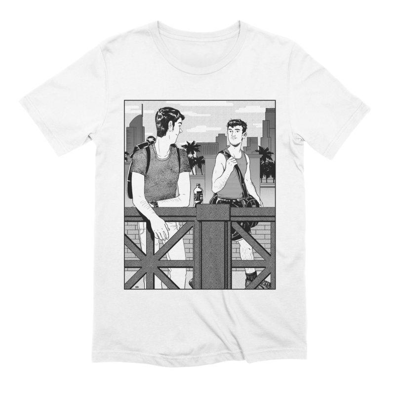 A Glance Downtown Men's Extra Soft T-Shirt by Hertz Alegrio