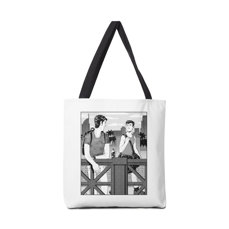 A Glance Downtown in Tote Bag by Hertz Alegrio