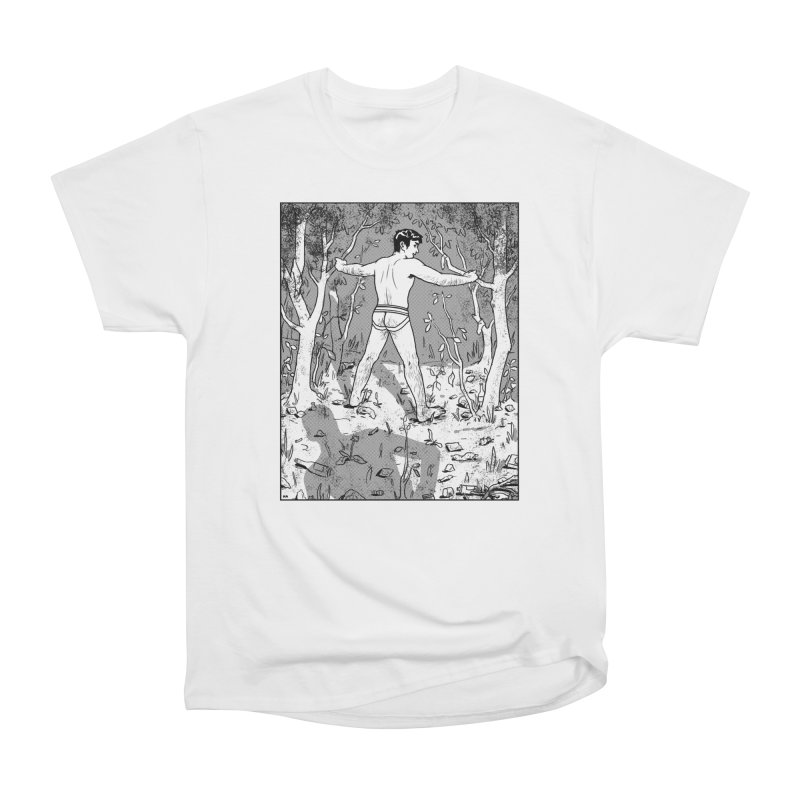 Elysian Woods Men's Heavyweight T-Shirt by Hertz Alegrio
