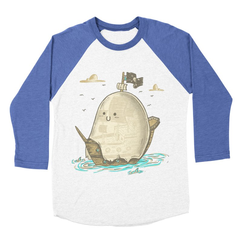 Ghost Ship Men's Baseball Triblend T-Shirt by hesor's Artist Shop