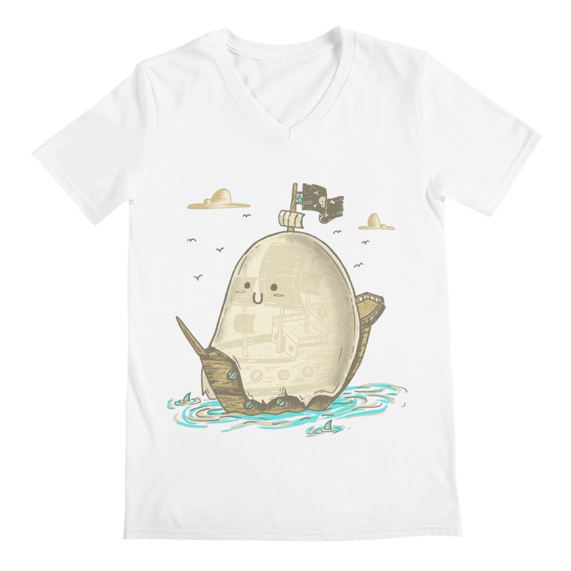 Ghost Ship Men's V-Neck by hesor's Artist Shop