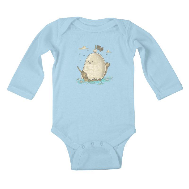 Ghost Ship Kids Baby Longsleeve Bodysuit by hesor's Artist Shop