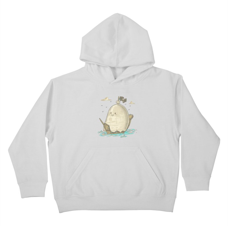 Ghost Ship Kids Pullover Hoody by hesor's Artist Shop