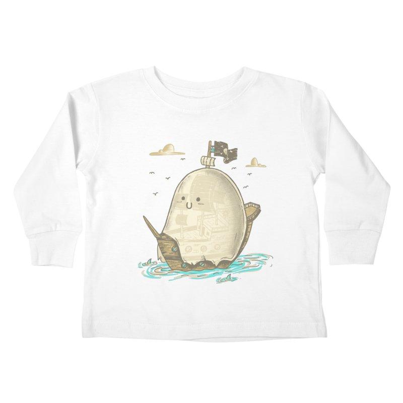 Ghost Ship Kids Toddler Longsleeve T-Shirt by hesor's Artist Shop