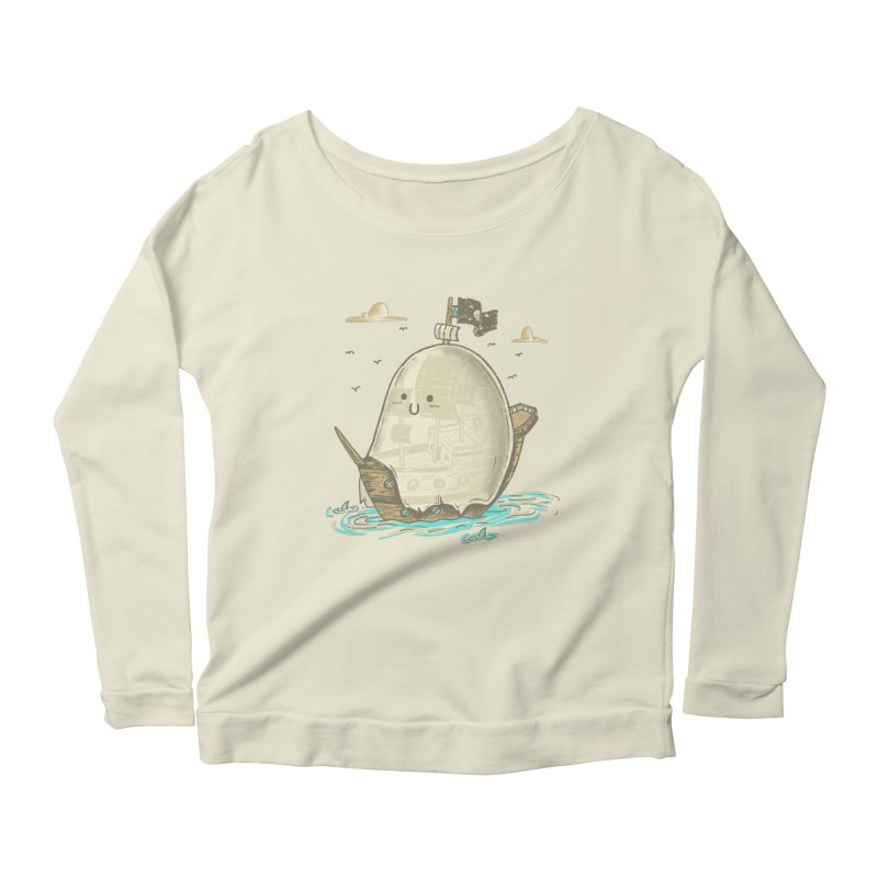 Ghost Ship Women's Longsleeve Scoopneck  by hesor's Artist Shop