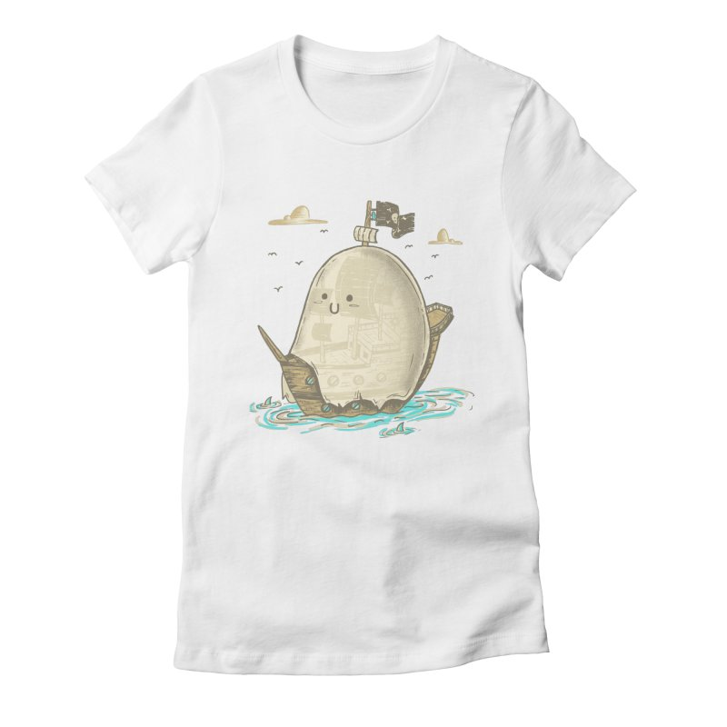 Ghost Ship Women's Fitted T-Shirt by hesor's Artist Shop