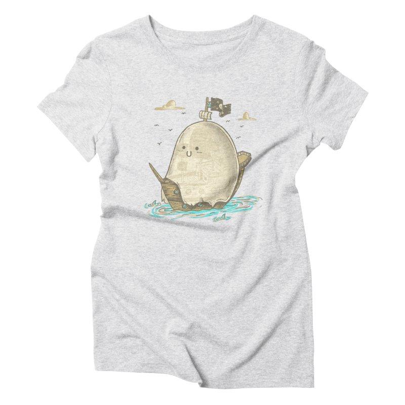 Ghost Ship Women's Triblend T-Shirt by hesor's Artist Shop