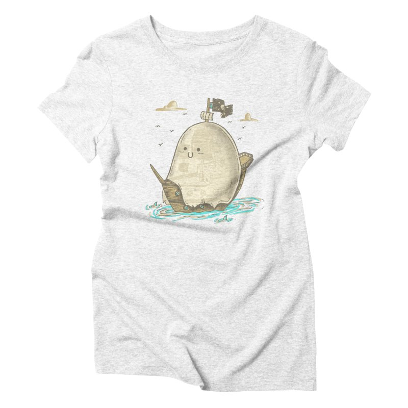 Ghost Ship Women's Triblend T-shirt by hesor's Artist Shop