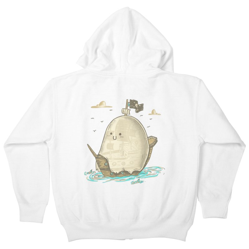 Ghost Ship Kids Zip-Up Hoody by hesor's Artist Shop
