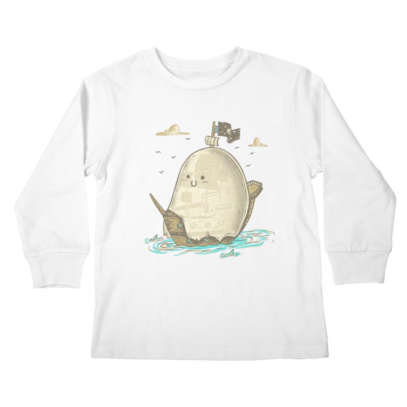 Ghost Ship Kids Longsleeve T-Shirt by hesor's Artist Shop