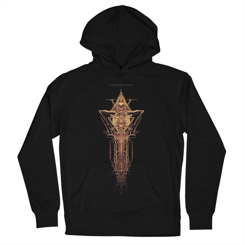 TEKNOBLIVION II - Golden Edition Women's French Terry Pullover Hoody by HEXAD - Art and Apparel