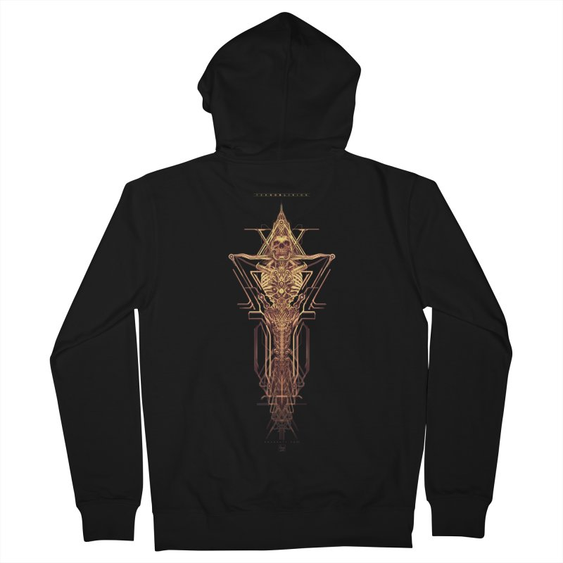 TEKNOBLIVION II - Golden Edition Men's French Terry Zip-Up Hoody by HEXAD - Art and Apparel