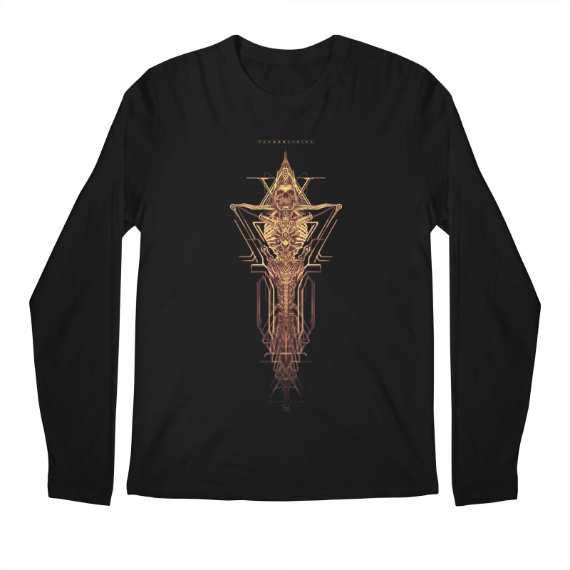 TEKNOBLIVION II - Golden Edition Men's Longsleeve T-Shirt by HEXAD - Art and Apparel
