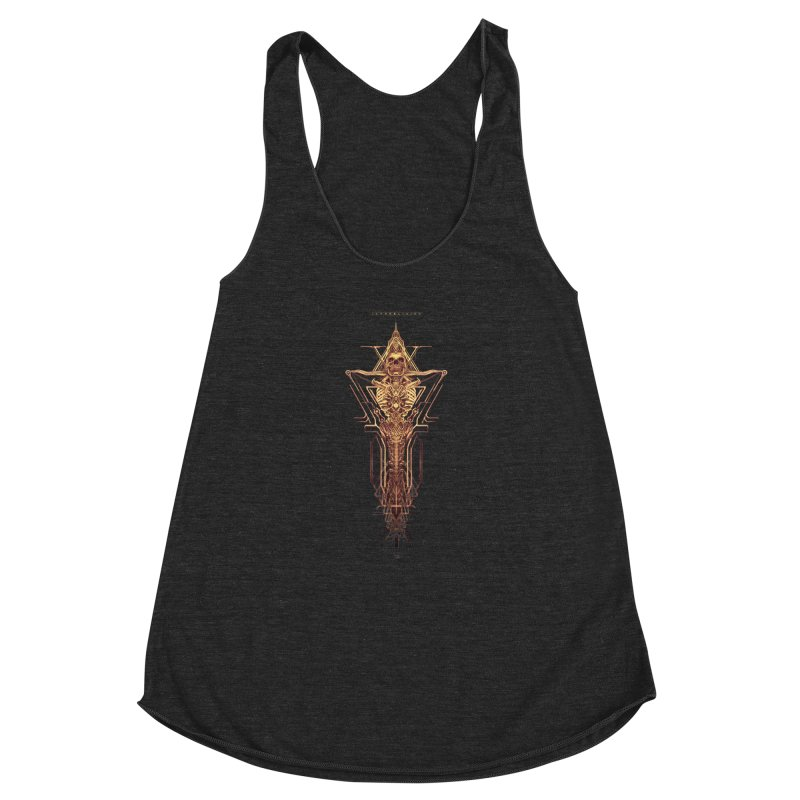 TEKNOBLIVION II - Golden Edition Women's Racerback Triblend Tank by HEXAD - Art and Apparel