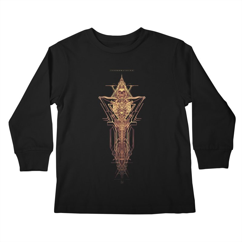 TEKNOBLIVION II - Golden Edition Kids Longsleeve T-Shirt by HEXAD - Art and Apparel