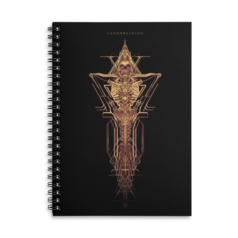TEKNOBLIVION II - Golden Edition Accessories Lined Spiral Notebook by HEXAD - Art and Apparel