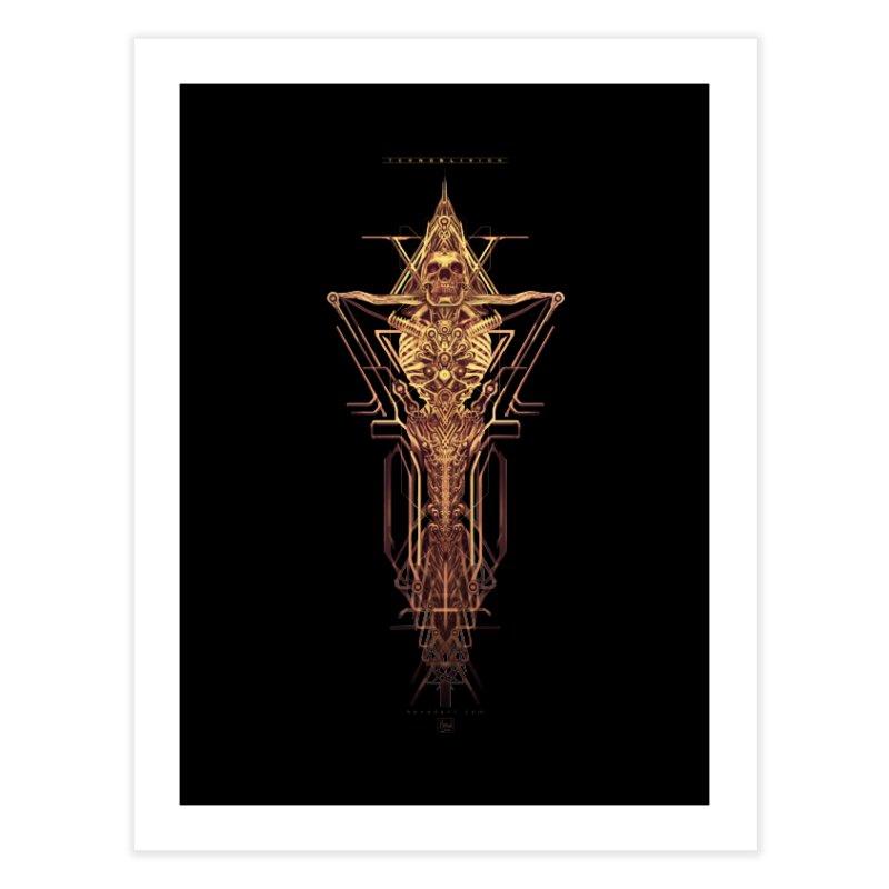 TEKNOBLIVION II - Golden Edition Home Fine Art Print by HEXAD - Art and Apparel