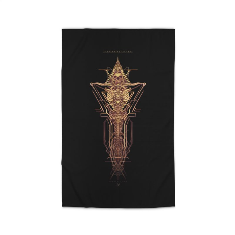 TEKNOBLIVION II - Golden Edition Home Rug by HEXAD - Art and Apparel