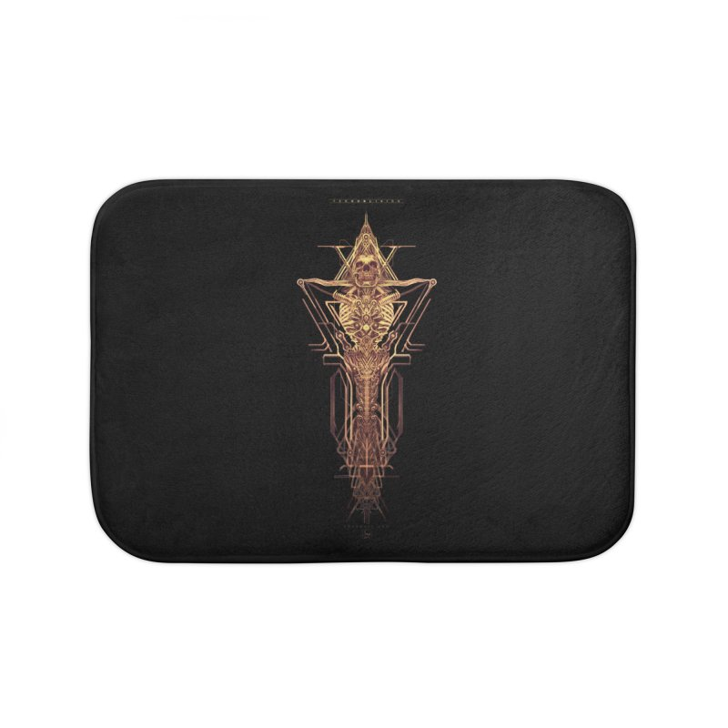 TEKNOBLIVION II - Golden Edition Home Bath Mat by HEXAD - Art and Apparel