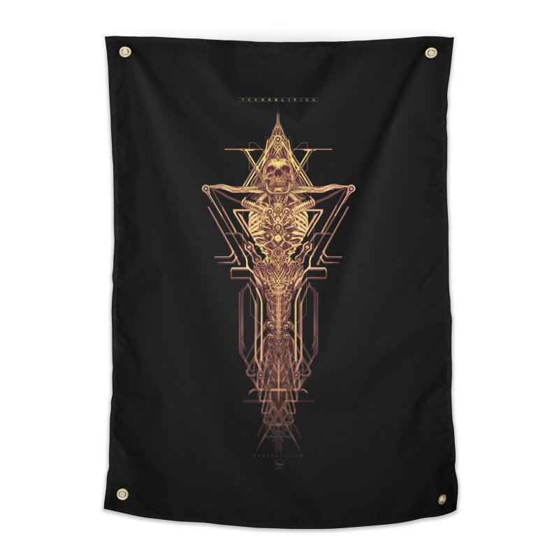 TEKNOBLIVION II - Golden Edition Home Tapestry by HEXAD - Art and Apparel