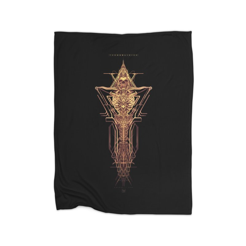 TEKNOBLIVION II - Golden Edition Home Blanket by HEXAD - Art and Apparel