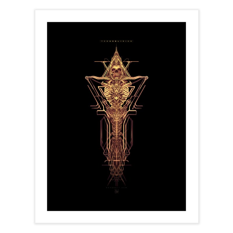 TEKNOBLIVION II - Golden Edition Home Fine Art Print by HEXAD - Art and Apparel