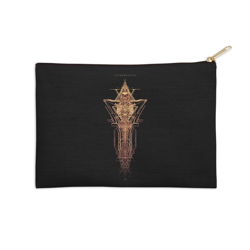 TEKNOBLIVION II - Golden Edition Accessories Zip Pouch by HEXAD - Art and Apparel