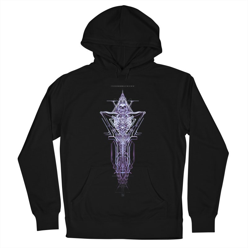 TEKNOBLIVION II - Diamond Edition Women's French Terry Pullover Hoody by HEXAD - Art and Apparel