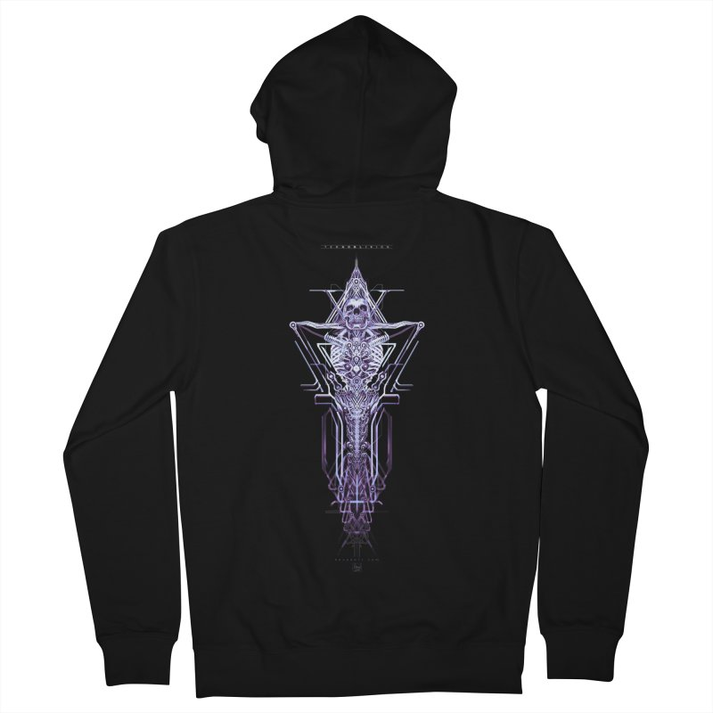 TEKNOBLIVION II - Diamond Edition Men's French Terry Zip-Up Hoody by HEXAD - Art and Apparel