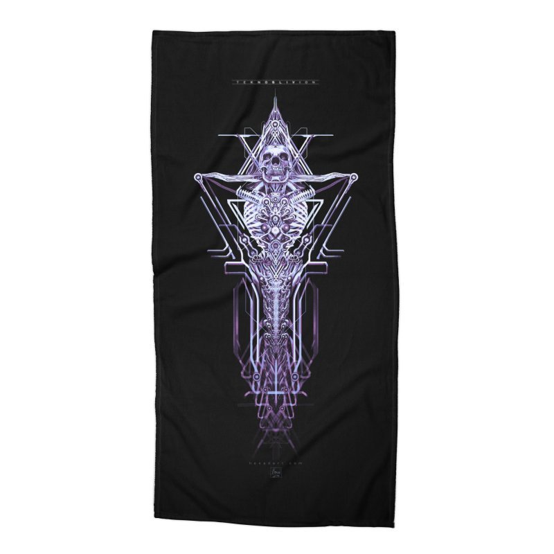 TEKNOBLIVION II - Diamond Edition Accessories Beach Towel by HEXAD - Art and Apparel