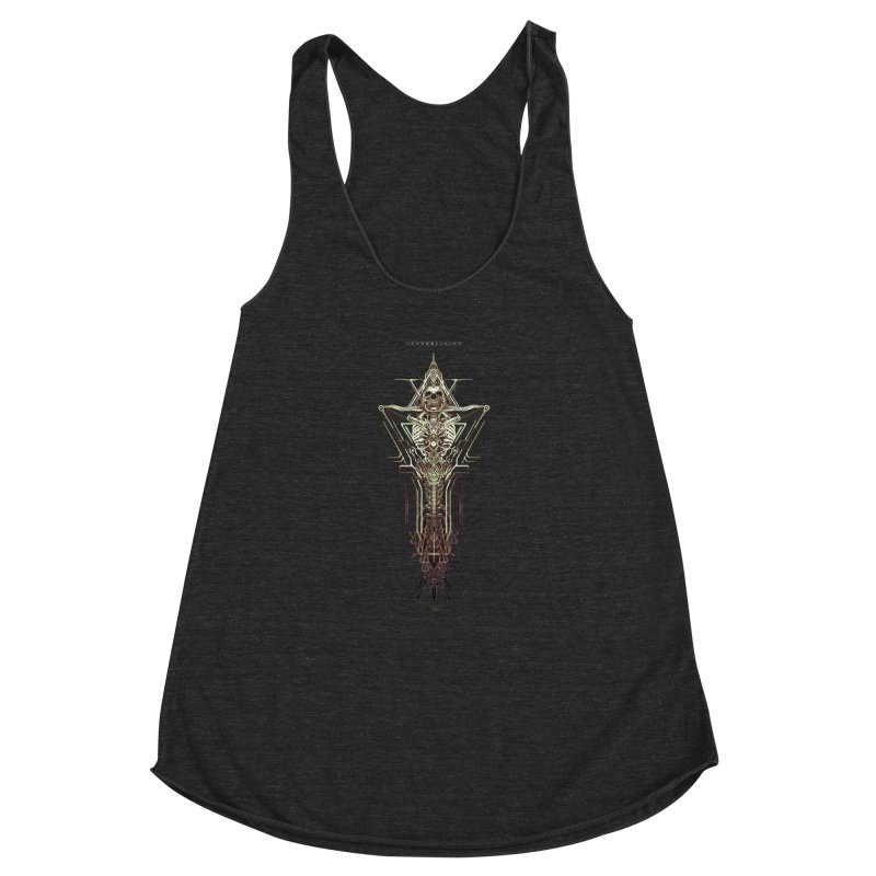 TEKNOBLIVION II - Wasteland Edition Women's Racerback Triblend Tank by HEXAD - Art and Apparel