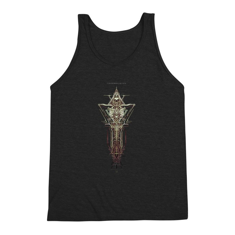 TEKNOBLIVION II - Wasteland Edition Men's Triblend Tank by HEXAD - Art and Apparel