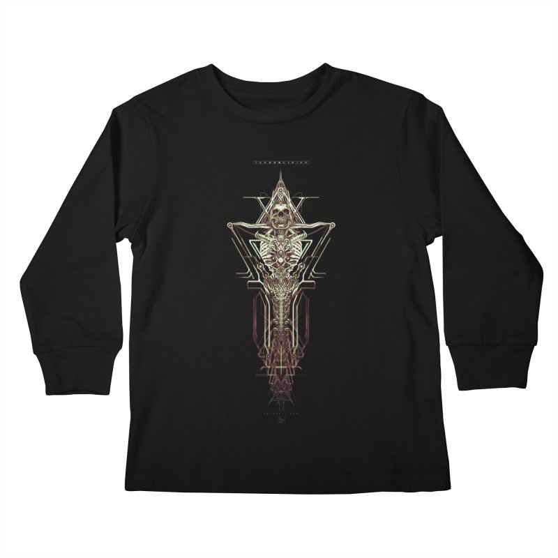 TEKNOBLIVION II - Wasteland Edition Kids Longsleeve T-Shirt by HEXAD - Art and Apparel