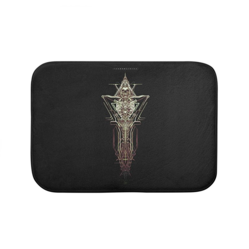 TEKNOBLIVION II - Wasteland Edition Home Bath Mat by HEXAD - Art and Apparel