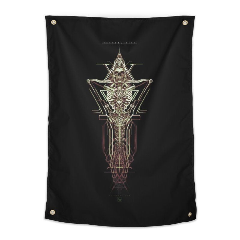 TEKNOBLIVION II - Wasteland Edition Home Tapestry by HEXAD - Art and Apparel