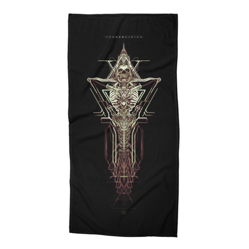 TEKNOBLIVION II - Wasteland Edition Accessories Beach Towel by HEXAD - Art and Apparel