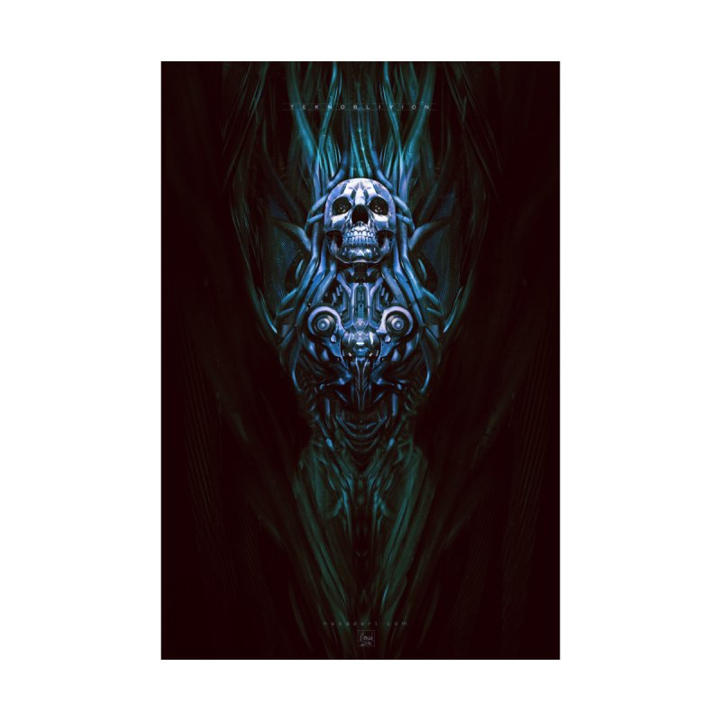 TEKNOBLIVION III - Bleu Edition Home Framed Fine Art Print by HEXAD - Art and Apparel