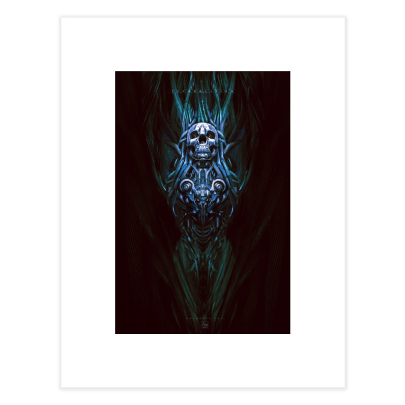 TEKNOBLIVION III - Bleu Edition Home Fine Art Print by HEXAD - Art and Apparel