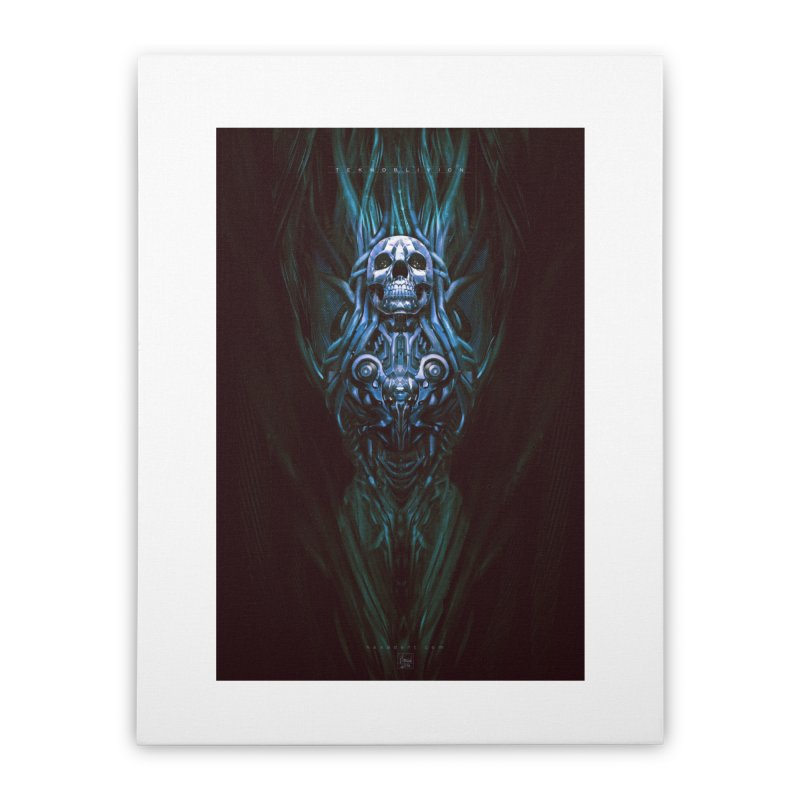 TEKNOBLIVION III - Bleu Edition Home Stretched Canvas by HEXAD - Art and Apparel