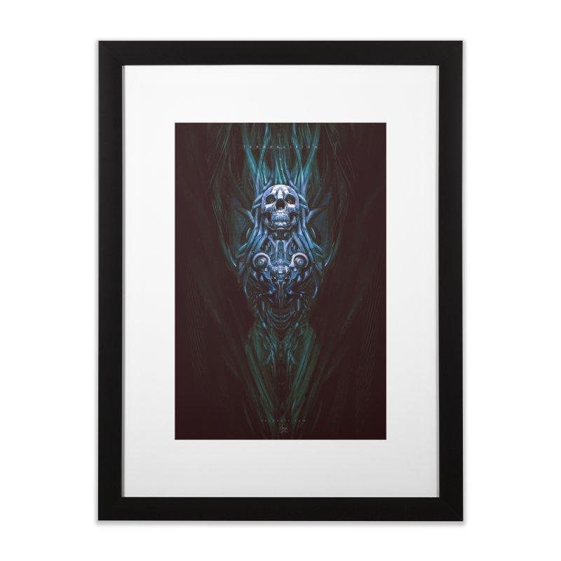 TEKNOBLIVION III - Bleu Edition Home Framed Fine Art Print by HEXAD - Art and Apparel