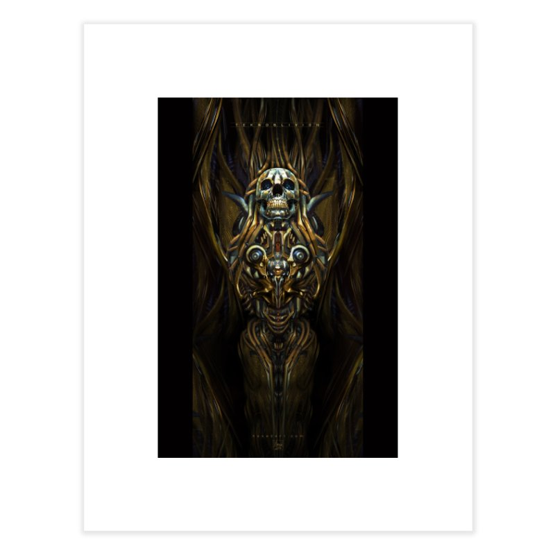 TEKNOBLIVION III - Golden Edition Home Fine Art Print by HEXAD - Art and Apparel