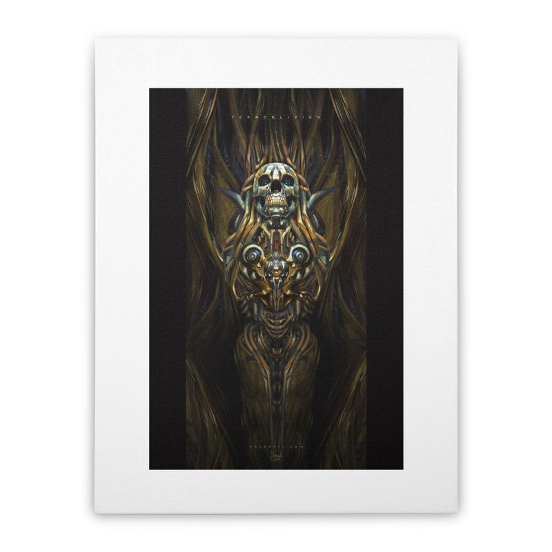 TEKNOBLIVION III - Golden Edition Home Stretched Canvas by HEXAD - Art and Apparel
