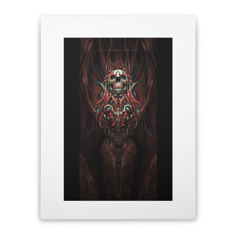 TEKNOBLIVION III - Hotrod Edition Home Stretched Canvas by HEXAD - Art and Apparel