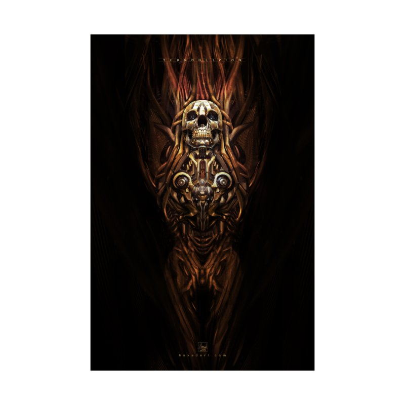 TEKNOBLIVION III - Inferno Edition Home Framed Fine Art Print by HEXAD - Art and Apparel