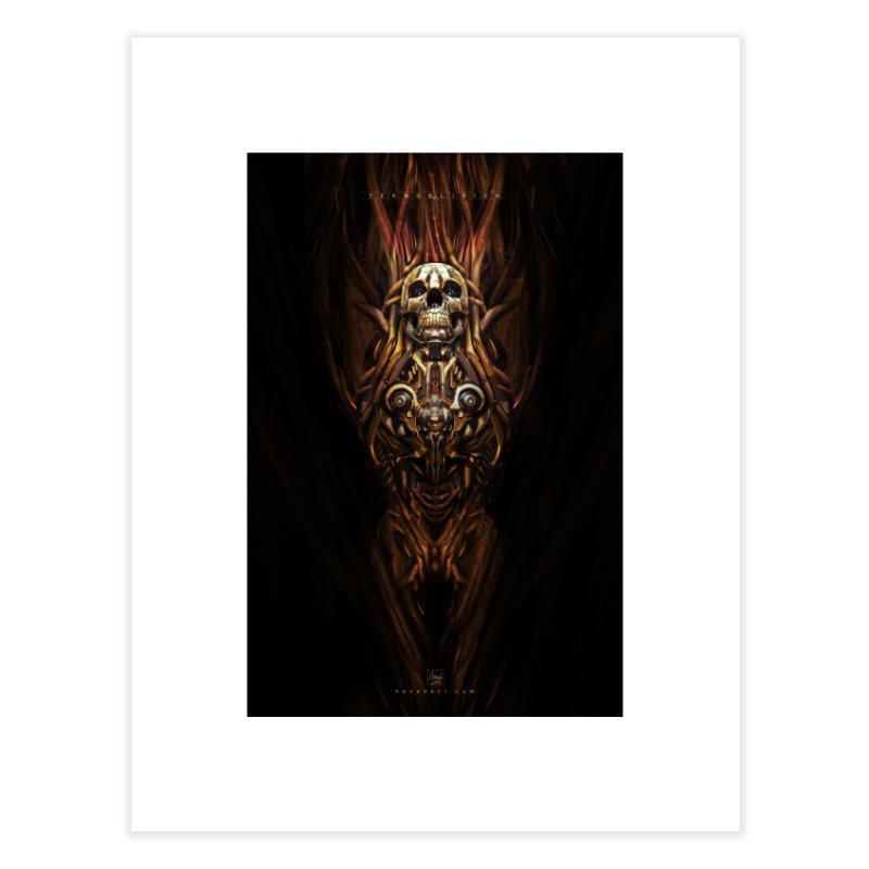 TEKNOBLIVION III - Inferno Edition Home Fine Art Print by HEXAD - Art and Apparel